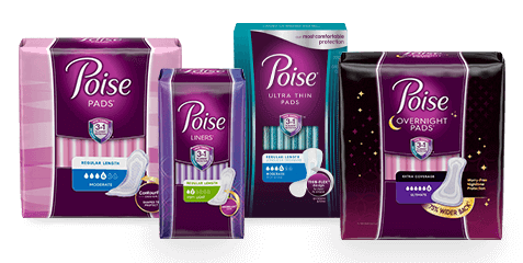 Poise Light Bladder Leakage Products.