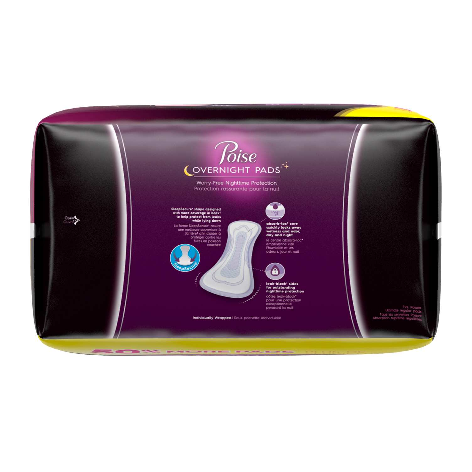 Poise® Overnight Pads  Female Urinary Incontinence